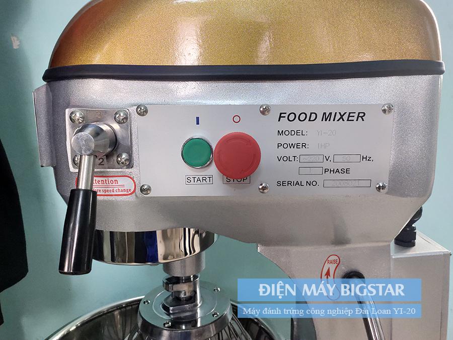 bảng điều khiển máy trộn bột đánh trứng